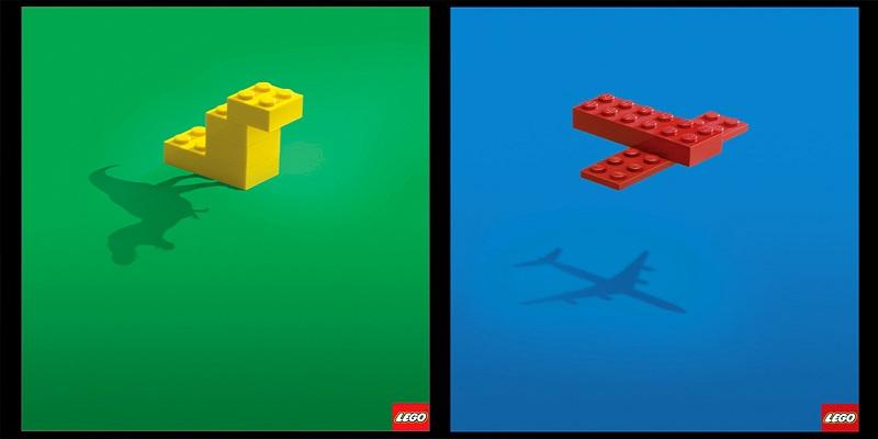 Thiết kế quảng cáo tối giản và ấn tượng từ Lego