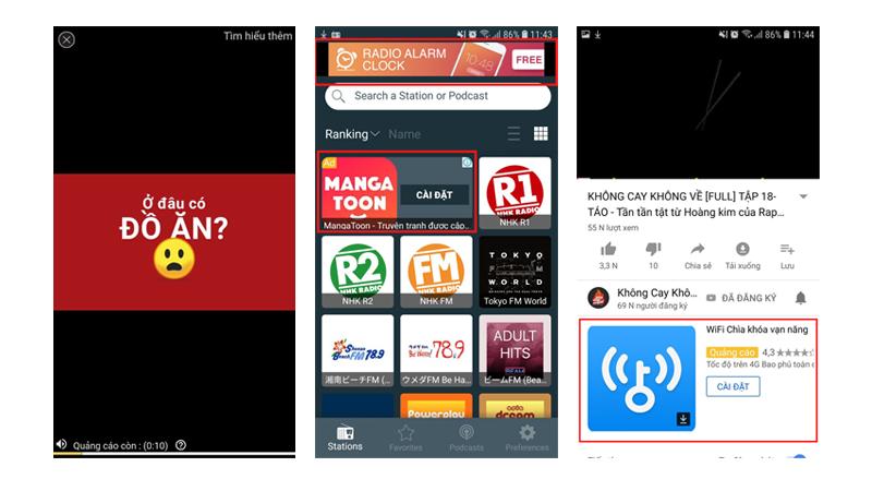 Quảng cáo trên ứng dụng tải từ Google Play