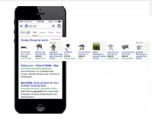 Quảng cáo Google Shopping hiển thị đẹp trên giao diện điện thoại